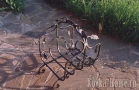 Кованая дровница, кованые дровницы,аксессуары для каминов, дронвица для камина