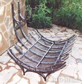Кованая дровница, кованые дровницы, аксессуары для камина, дровница для камина