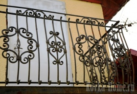кованое ограждение балкона 4, кованые решетки,  кованые ограждения