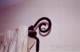 Кованый карниз для штор № 2 фото, аксессуары для штор