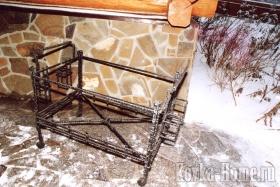 Кованый коктейльный столик фото, кованый стул