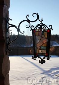 Кованый светильник на закате солнца фото, кованые фонари, кованые светильники