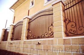 Кованый забор с коваными пиками фото, кованые ограждения