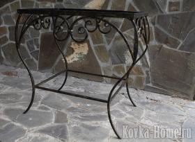 кованый столик, кованый журнальный столик