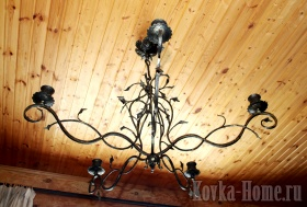 кованая люстра Романтика, кованые светильники, кованые фонари