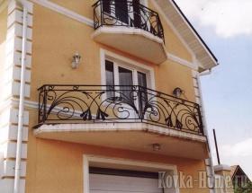 кованое ограждение балкона № 2 фото, кованые перила