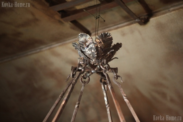 Люстра кованая Тоскана 2, кованые фонари, кованые светильники