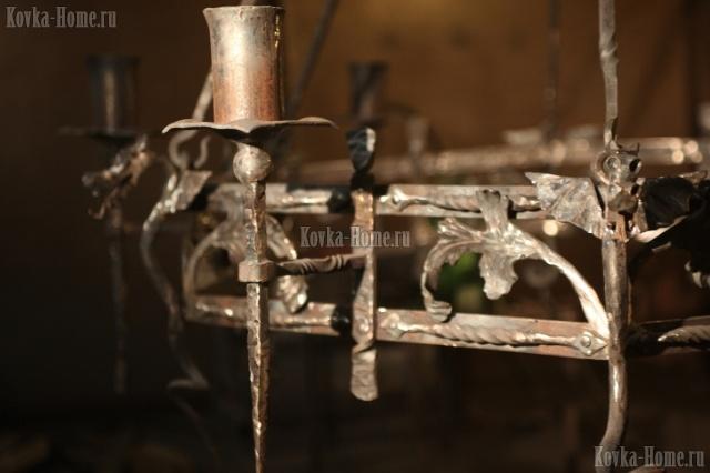 Люстра кованая Тоскана 4, кованые фонари, кованые светильники
