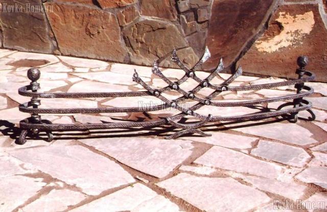 Каминная решетка, аксессуары для камина, художественная ковка