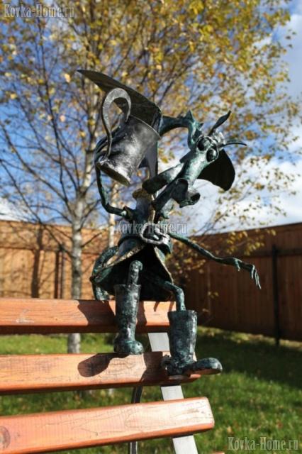 Кованые фонари Дракоша фото, кованые светильники, колосники