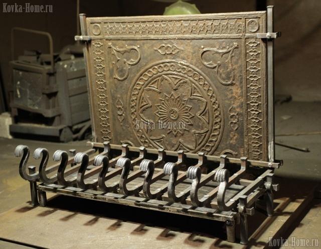 кованый колосник с зольником,колосник, кованые колосники