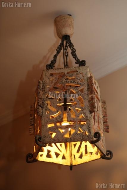 Кованая люстра, кованые люстры. кованые светильники, кованые фонари