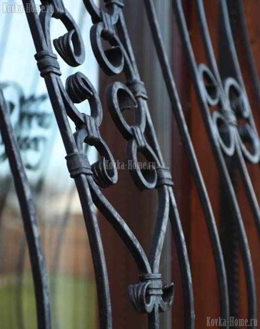 Кованая оконная решетка, кованые ограждения