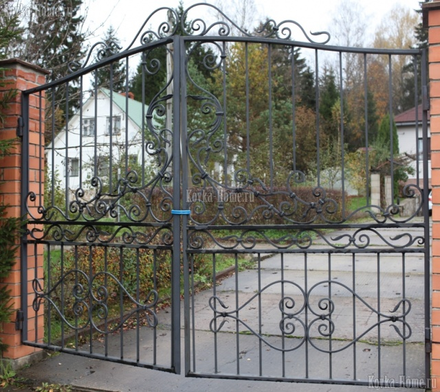 кованые ворота фото, кованые ограждения