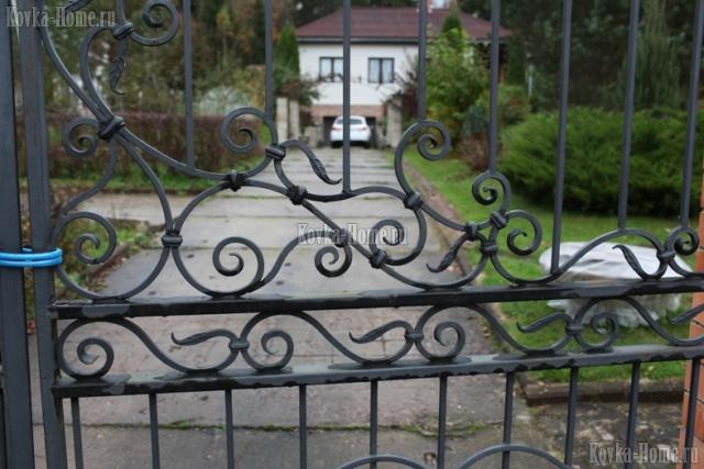 кованые ворота центральнаая часть, кованые ограждения