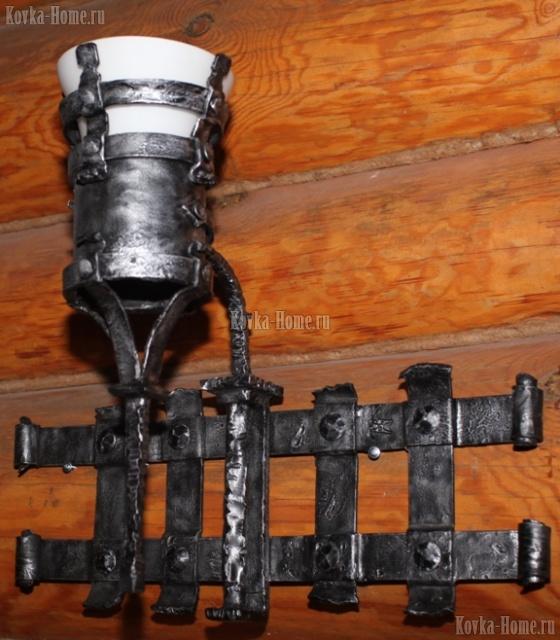 """Кованый фонарь """"Атилла с плафоном"""", кованые светильники, кованые фонари"""