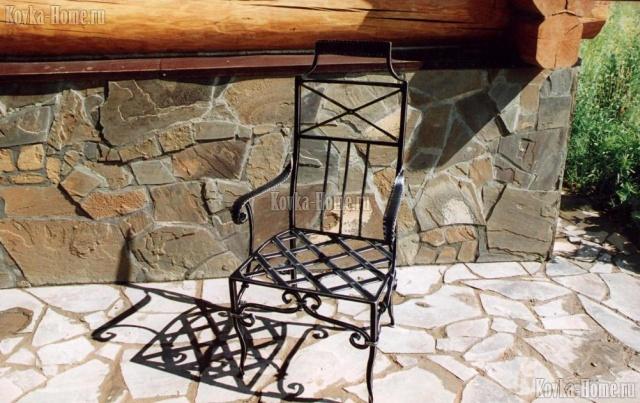 Кованое кресло № 2 фото, кованый стул, кованые скамейки