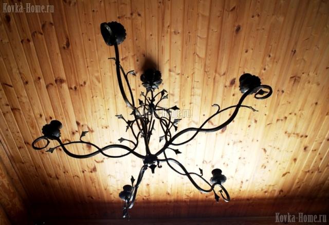 Кованая люстра, кованые светильники, кованые фонари