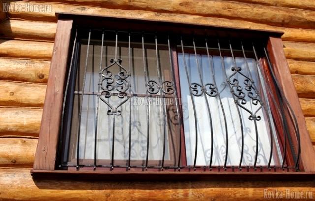 Кованая решетка на окно № 3 фото, кованые ограждения