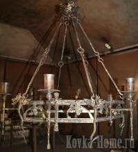 Кованая люстра Тоскана фото, кованые фонари, кованые светильники