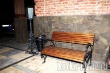 Кованые фонарьи, кованые светильники, кованые скамейки