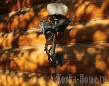 кованый светильник, кованые светильники, кованые фонари
