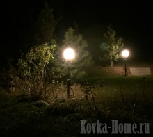кованый фонарик  парковый, фонари парковые